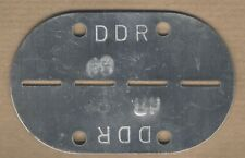 POST WAR EAST GERMANY / DDR ARMY ID TAG / DOG TAG, THE 60s, UNISSUED