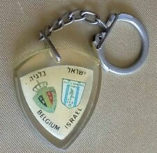 Football Fifa World Cup qualifiers Israel vs Belgium Old Vintage Keychain 1965