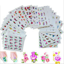 Girls Flower 50 Style Water Transfer Sticker Nail Art Decal DIY Temporary Tattoo