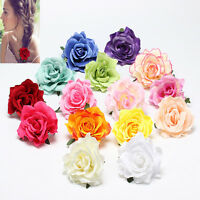 Rose Flower Hair Clip Hairpin Brooch Wedding Bridesmaid Party Accessories 1PC