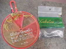 Lot of Water Gremlin No. 11 all in one sinkers Cabela's Snap swivels size 12