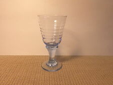 Libbey Crystal Sirrus Light Blue Pattern Wine Goblet 7""