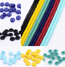 Wholesale Glass Round Flat Spacer Loose Beads DIY Jewelry Making Findings DIY8mm