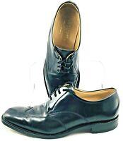 Charles Tyrwhitt Oxford Men's UK Sz 7.5 US 8 Black Leather Wingtip Shoes England