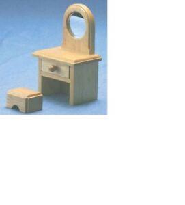 Dollhouse Miniatures 1:12 Scale Playstuf Vanity & Stool #CLA10422