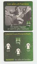 ★ HEINEKEN ★ RUGBY Sous bock coaster deckel #2 LES AILES ET L'ARRIERE  H-Cup