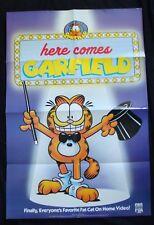 HERE COMES GARFIELD animated video poster original store promo                 E