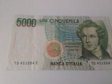 5000 LIRE BANCONOTA