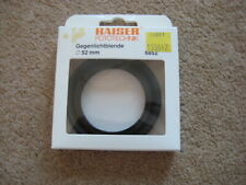 New in Box Kaiser 52mm Dull Black Rubber Lens Hood 6852