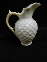 Belleek  Pitcher Jug Porcelain Classic Pattern 6th/ 3rd Green Mark Vintage 1966