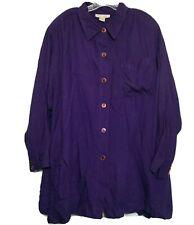 Venezia Women's Button Down Blouse ~ Sz 26/28 ~ Purple ~ Long Sleeves