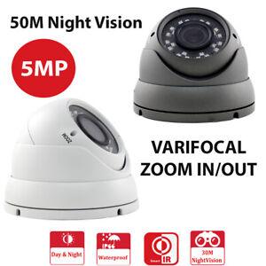 5MP 1960P HD TVI 2.8-12MM VARIFOCAL DOME CCTV 50 METERS NIGHT VISION CAMERA Grey