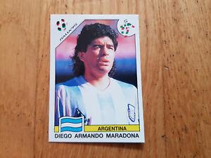 Panini WM 1990 World Cup Italia 90 sticker Maradona #224 WorldCup Story 1990