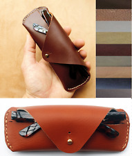 sunglasses bag Eyeglass Case spectacles glasses cow Leather Customize brown A526