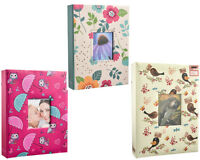 "LARGE 200 POCKET SLIP IN PHOTO ALBUM HOLDS 7 X 5"" PHOTOS BRIGHT DESIGNS"