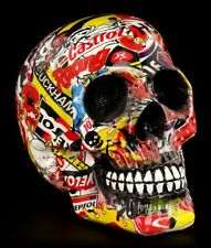 Multicolor Calavera con markenwerbung - POP ART - Calavera Deco Figura
