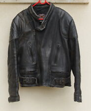 ASH GEE Cowhide Black Leather Full Zip Motorcycle Men's Jacket MADE in ENGLAND
