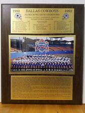1992 DALLAS  COWBOYS SUPER BOWL XXVII COMMEMORATIVE WOODEN  PLAQUE