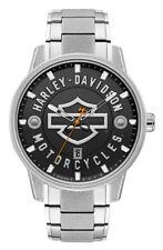 Harley-Davidson Men's Open Bar & Shield Stainless Steel Watch, Silver 76B182