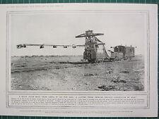 1915 WWI WW1 PRINT ~ LIGHTING TRUCK ENABLING RAILWAY CONSTRUCTION BY NIGHT