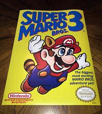 "Super Mario Bros 3 NES box art retro video game 24"" poster print nintendo 80s"