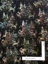 Batik Fabric - Deer Pine Trees Scenic Hoffman Indonesian L2660 Trellis - YARD