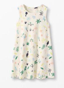 NWT Sealed In Orig Pkg HANNA ANDERSSON Cream Print  DRESS Girls 110 cm  Sz 5