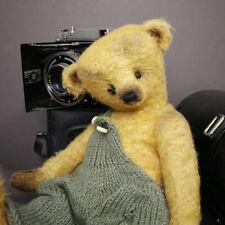 Old Teddy bear 27 cm (10.63in.) Artist teddy bear Mohair teddy bear OOAK