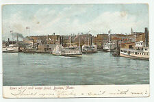"""Rowe's"" Wharf and Waterfront, Boston, Massachusetts - 1906 cancel Postcard"