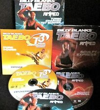 Taebo, Billy Blanks 3 DVDS NEW Workout, Fitness,Burn Fat,Turbo,T3,Sculpt,Turbo