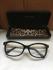 New Roberto Cavalli Black Butterfly Scale Effect Optical Frame