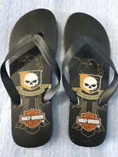 ae48d81b61b7 New Men s Harley - Davidson Cajon Black Flip Flops Sandals Black New US  size 9