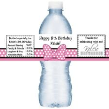 21 Minnie Mouse Birthday Party Water Bottle Labels