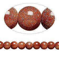 "THREE (3) 16"" Strand 8mm GOLDSTONE Gemstone Beads"
