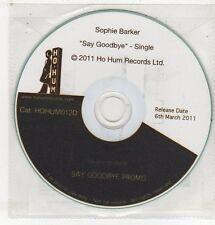(ET673) Sophie Barker, Say Goodbye - 2011 DJ CD