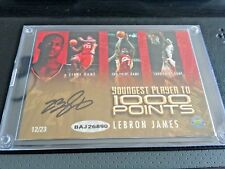 UDA LeBron James Auto Youngest Player to 1000 Points Commemorative Card /23