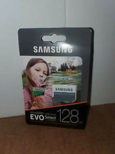 SEALED SAMSUNG MicroSDXC UHS-I Card EVO SELECT  with SD Adapter 128GB