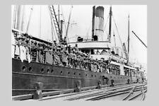 WARRIMOO as HMNZT 20 Troopship NZ WW1 modern digital Photo Postcard
