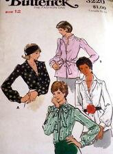 *Lovely Vtg 1970s Blouse Sewing Pattern 12/34