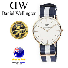 Daniel Wellington Glasgow Silver Nato Strap Analog 0104Dw Watch