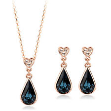 Fashion Jewelry - 18K Rose Gold Plated Drop Set (FS068)