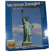 """Statue of Liberty Written Images Signature 1026 Piece Jigsaw Puzzle 27"""" x 20"""""""