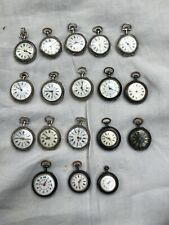 LOT DE 18 MONTRE GOUSSET DE COL OLD WATCH SILVER ARGENT MASSIF or
