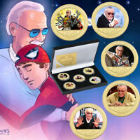 Remember Stan Lee's Captain Marvel Collection Coin Fan GiftsCollectible with Box
