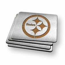 Pittsburgh Steelers NFL Stainless Steel Sportula Boasters - Set of 4 Coasters