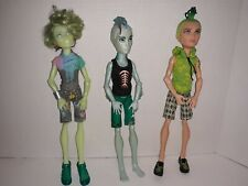 Monster High Deuce Gorgon Gil Webber Porter Geiss Male Boy Articulated Doll Lot