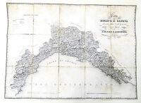 Cartina Geografica Ducato di Genova - 1846