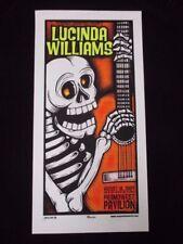 2004 Rock Concert Poster Lucinda Williams Mike Martin S/N 100 Skeleton Columbus