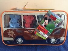 Donald and MIckey and Friends Figure Chalk set in Beach Bus Carry Case with Surf