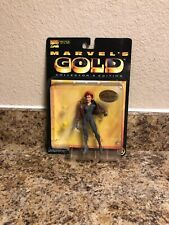 MOC 1998 TOYBIZ MARVEL'S GOLD BLACK WIDOW COLLECTORS EDITION ACTION FIGURE